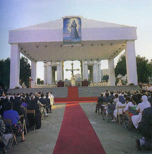 Foto scattata durante le celebrazioni di beatificazione